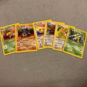 Bundle of 6 near mint Jungle Set Pokémon cards